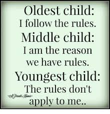 Middle Child Meme - oldest child i follow the rules middle child i am the reason we have