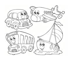 preschool coloring pages transportation transportation coloring