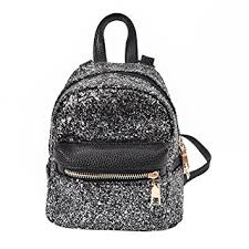 rrimin fashion pu leather bling backpack mini small bag
