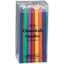 channukah candles colorful chanukah candles standard size fits most