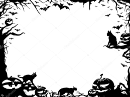 halloween frame border isolated on white u2014 stock photo