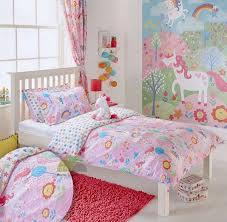 Unicorn Bed Set Unicorn Quilt Duvet Cover With Matching Curtains