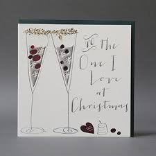 handmade to the one i love christmas card karenza paperie