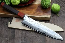 Engraved Kitchen Knives Yoshihiro 46 Layers Hammered Damascus Nsw Gyuto Petty Chefs Knife