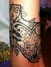 texas tattoo u003c3 thats what i want but have the heart over san