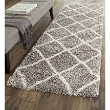 Plush Runner Rugs Safavieh Hudson Shag Collection Sgh281b Grey And Ivory