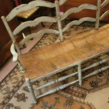 french bench with rush seat