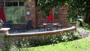 Paver Patio With Retaining Wall by Hardscaping Services Northwest Indiana Retaining Wall Paver