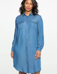 chambray shirt dress women u0027s plus size dresses eloquii