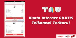 kode kuota gratis telkomsel trik dapat kuota internet gratis telkomsel terbaru 60gb rp0