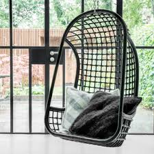 hk living rattan hanging chair black living and co