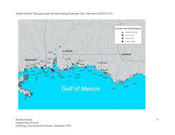 Map Pensacola Florida by Hurricane Ivan September 16 2004
