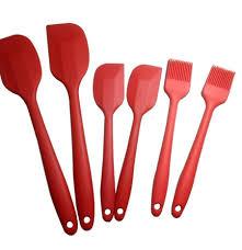 ustensile de cuisine silicone ᐃ6 pcs cuisine cuisine silicone pâte spatule ustensiles de cuisine
