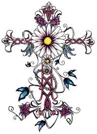15 pretty flower cross designs images cross with flowers tattoos