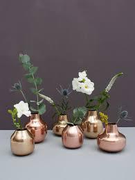 Trio Vases Metallic Enamel Bud Vase Gold Trio Gift Set Bohemia Design
