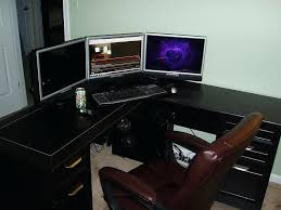 l shaped desk gaming setup l shaped gaming desk mesmerizing gaming l shaped desk gaming l