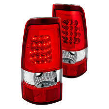 2005 gmc sierra tail lights lumen gmc sierra 2003 2005 chrome red fiber optic led tail lights