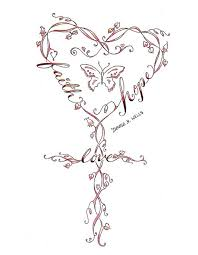 faith hope and love tattoos cross tattoos tattoos and crosses