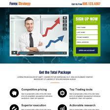 best forex video sign up lead capture responsive landing page design