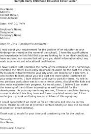 cover letter for early childhood educator lovely cover letter for early childhood educator 23 on cover
