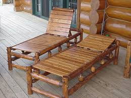 rustic patio furniture and details