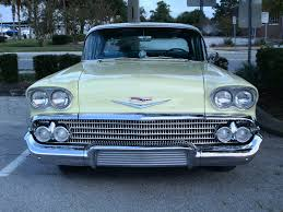 1958 chevy biscayne 4 door sedan yelwht youtube