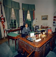 st a46 2 62 president john f kennedy at his desk in oval office
