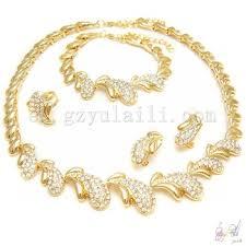 rhinestone necklace set images 24k gold plated rhinestone necklace design jewelry set italian jpg