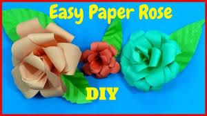 diy rose tutorial easy origami flowers for kids paper rose