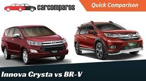 honda car comparison innova crysta vs honda brv comparison review