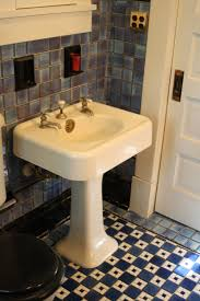 bathroom american universal blue black tile bathroom sink