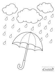 Rainy Day Umbrella Free Printable Coloring Page Rainy Day Coloring Pages