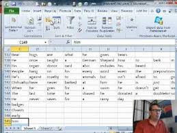 Count Number Of Words In Excel Learn Excel 2010 Word Count From Sentences Podcast 1460