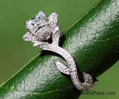 lotus flower engagement ring blooming work of flower lotus diamond engagement