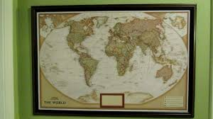 Personalized World Map by National Geographic Personalized Push Pin Map Of The World Youtube
