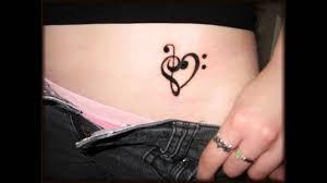 treble clef heart tattoo youtube