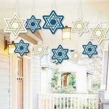 hanukkah window decorations hanging hanukkah outdoor chanukah porch tree yard