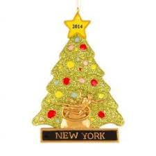 new york word personalized ornament and city
