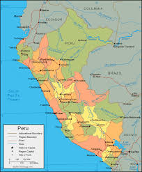 chile physical map peru map and satellite image