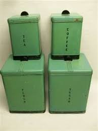 antique canisters kitchen kromex vintage spun aluminum canister jar set my has these