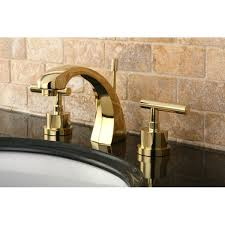 Bandini Faucets Concord Double Handle Widespread Polished Brass Bathroom Faucet