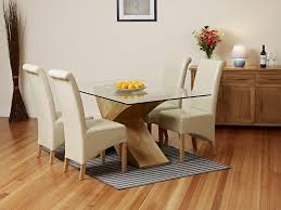 oak table and chairs dining table oak and glass dining table and chairs table ideas uk