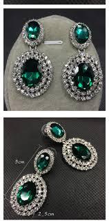 big stud earrings exaggerate black diamond decorated big shape design