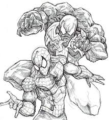 spiderman venom coloring pages kids coloring