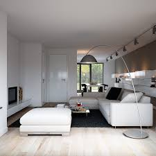 Picture Yourself In A Living Room by White Sofa In Modern Informal Living Room Has Short Table On Black