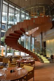fancy modern wood finishes spiral staircase smg treppen
