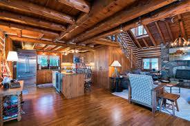 Log Cabin Kitchen Designs Log Home Builder Design Build Draper Construction