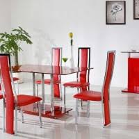 Red Leather Kitchen Chairs - interior endearing picture of dining room design and decoration