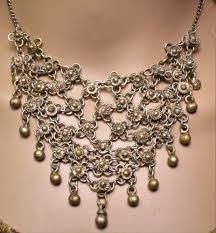 boho bib necklace images Antique victorian style gold boho moroccan cluster bib necklace JPG