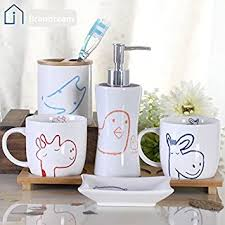 Amazon Bathroom Accessories by Amazon Com Brandream Cute Cartoon Giraffe Owl Bathroom
